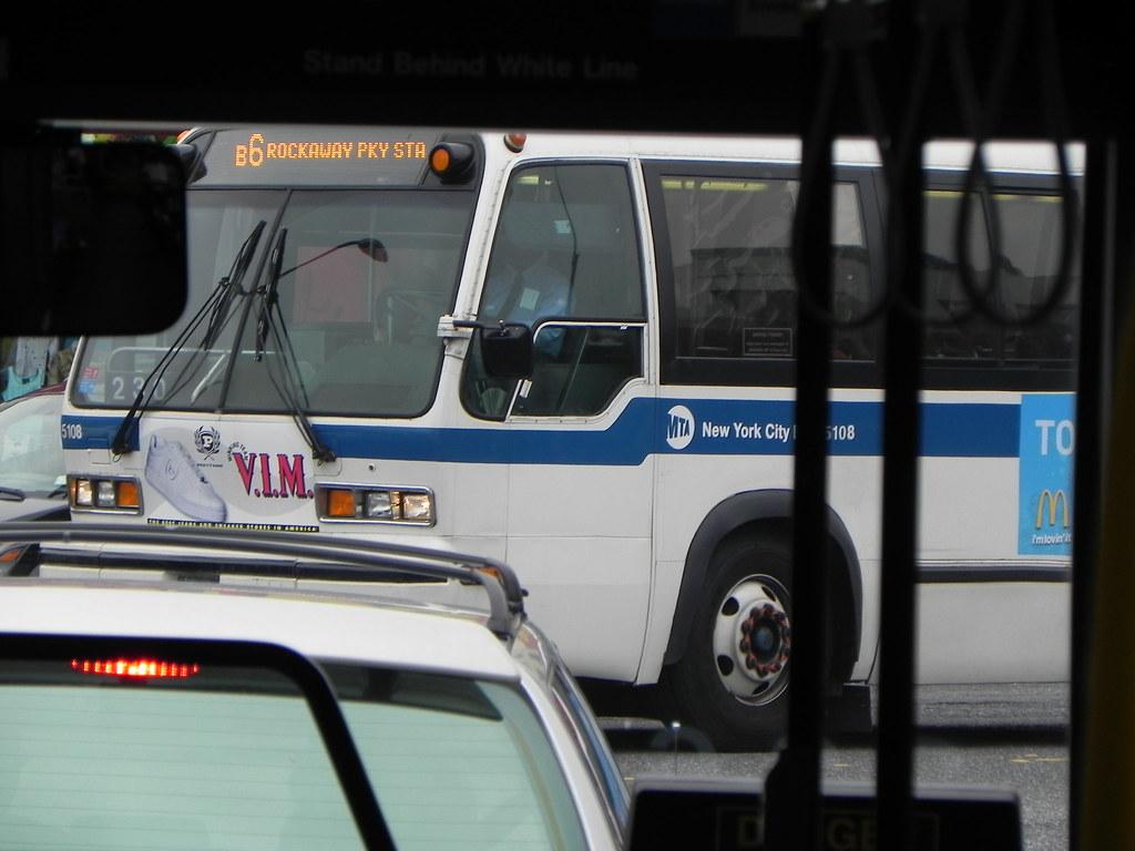 MTA NYC NovaBus RTS-06 (model T80206) 5108 on the B6 along Glenwood Rd.