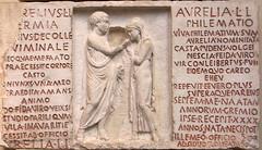 Inscripció funerària d'un matrimoni de lliberts, British Museum
