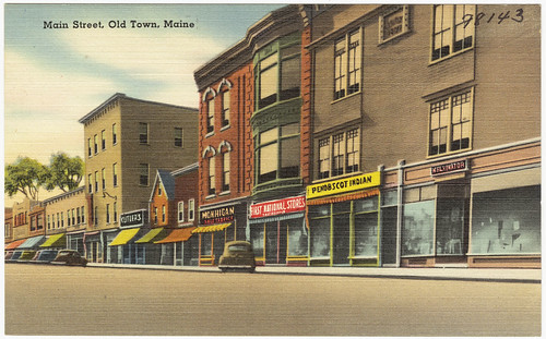 Main Street, Old Town, Maine