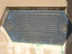 English Camp memorial stone