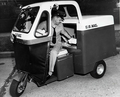Letter Carrier in Mailster Vehicle