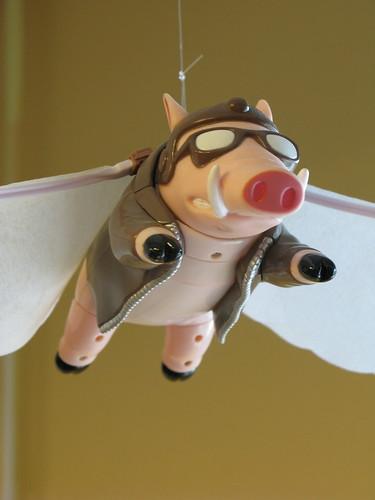 Mascot flies again