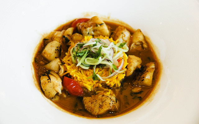 Indian fish curry, coconut milk, tamarind, saffron basmati | Flickr ...
