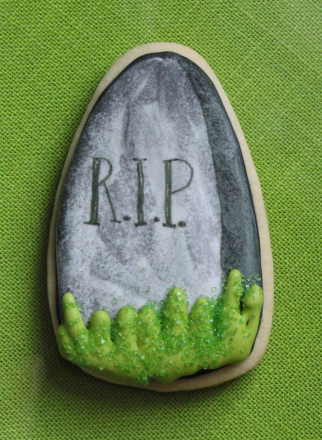 Tombstone Halloween Cookie