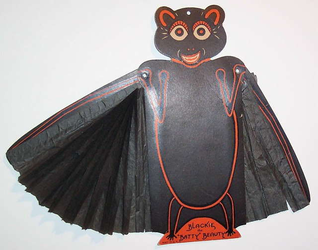 Vintage Halloween Diecut- Blackie the Batty Beauty