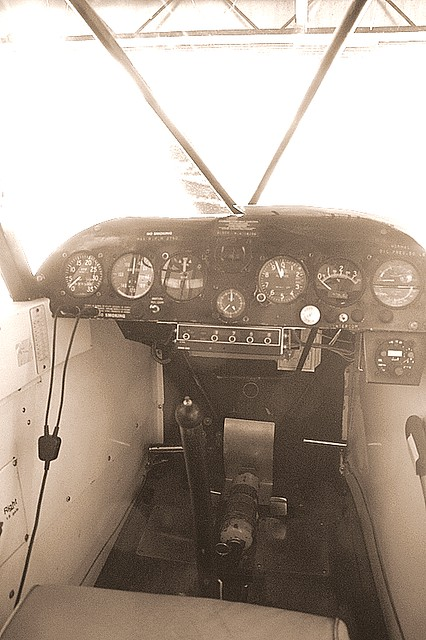 Piper Cub Cockpit
