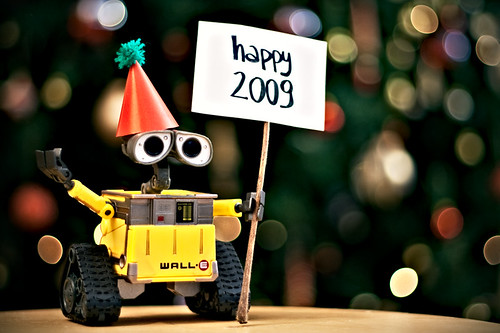 Wall-E wishes everyone a happy 2009!!