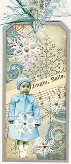 Altered Art Tag - Jingle Bells