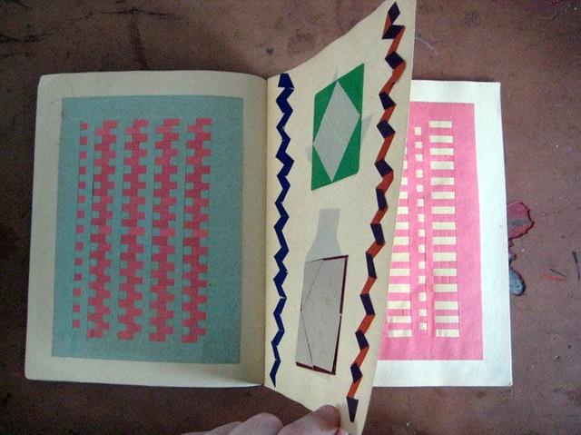 origami + weaving paper