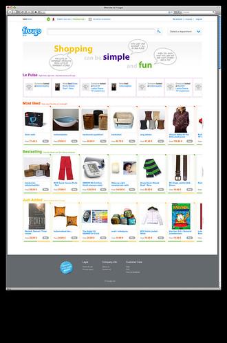Fruugo main page