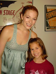 LeAnn Rimes backstage with Allison in 2006