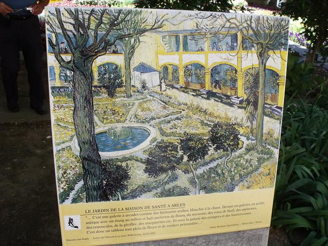Espace van gogh arles le jardin de la maison de sante for Jardin a auvers van gogh