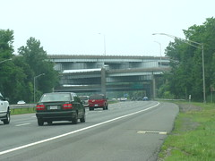 Stacked interchange west of Hartford