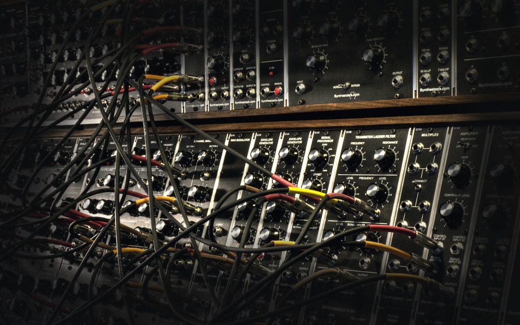 Modular Synthesizer Desktop Hdr Hdr Shot Of A Complex Patc Flickr