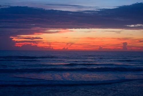 ocean statepark beach sunrise coast sand florida flaglerbeach gamblerogersmemorial