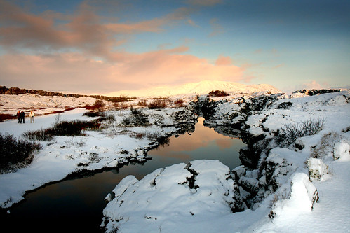 Beautiful light on Þingvellir