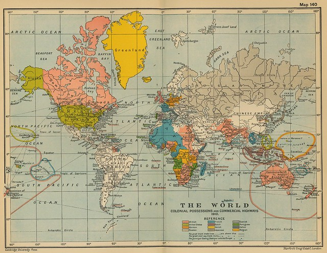 1910 world map from Flickr via Wylio
