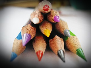 playing with crayons:)