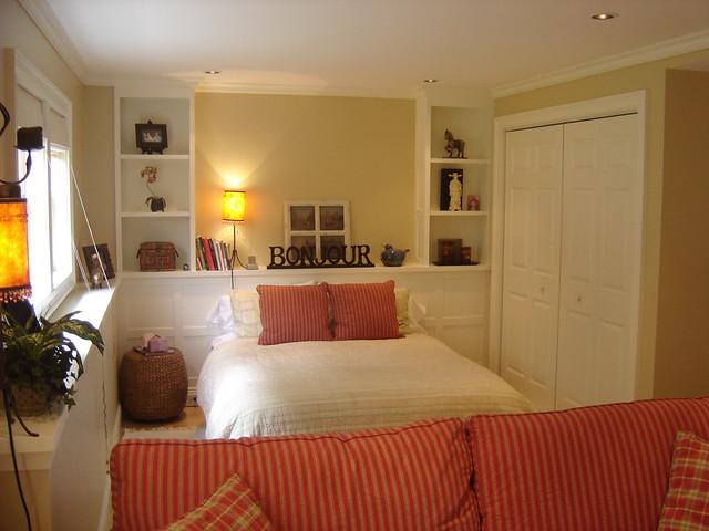 Basement master bedroom totally unfinished basement for Basement bed