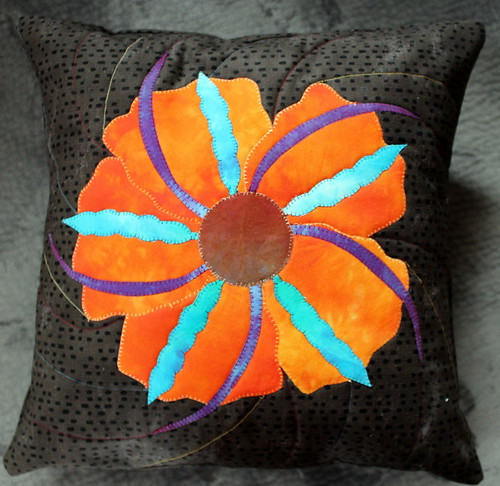 Veggie Flower Aplique Pillow