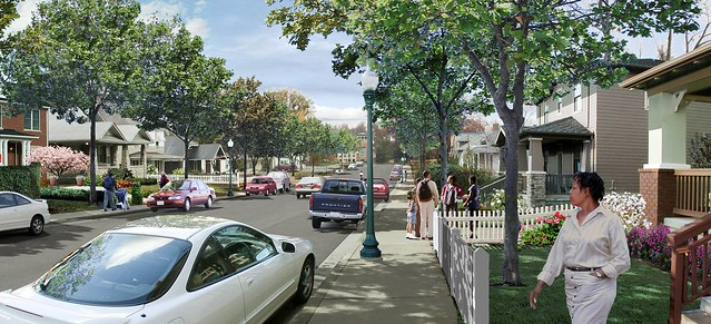 a vision of a street in Memphis, revitalized (courtesy of Steve Price, Urban Advantage)