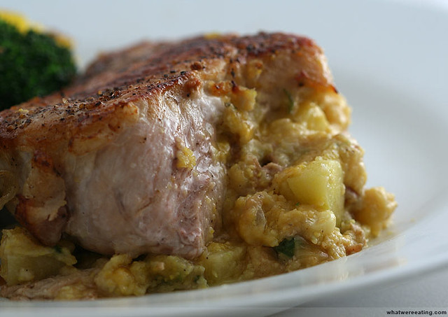 Apple and Cornbread Stuffed Pork Chops | Flickr - Photo Sharing!