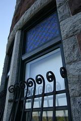 Window on Lambert Castle.