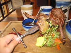 Red deer steak