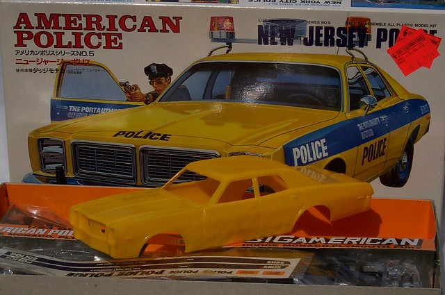 All Original Vintage Rochester Police Car Very Rare: Plymouth Fury Model Kit