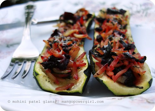 orzo stuffed zucchini