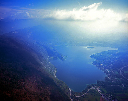 Lake of Aiguebelette, aerial view