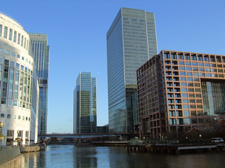 The Drowned World Of Canary Wharf, London.