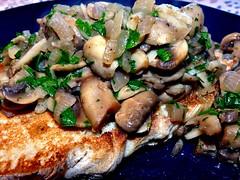 Garlic Mushrooms on Toasted Ciabatta