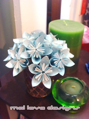 Origami Flower 03 Paper Ornament 12 Photos 335