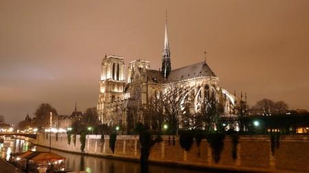 Paris - Notre Dame Winter Night