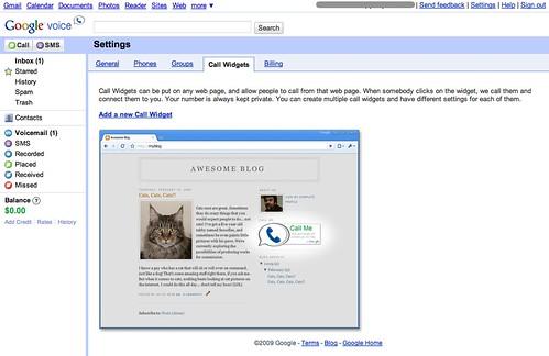 Google Voice - Settings - Call Widgets   www google com/voic…   Flickr