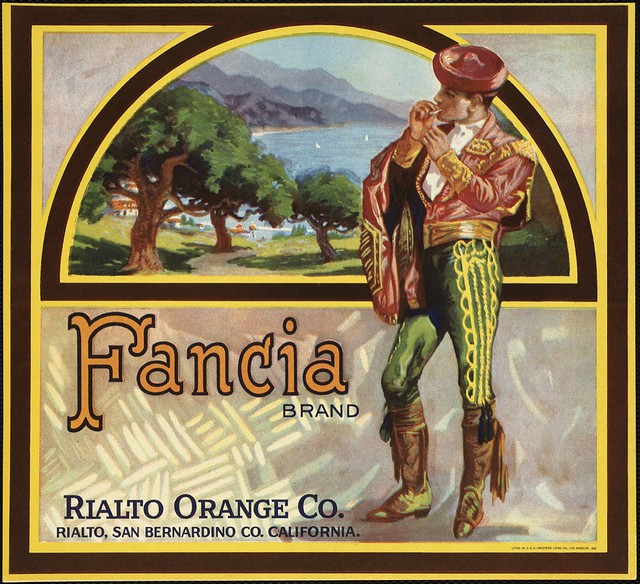 Fancia Brand: Rialto Orange Co., Rialto, San Bernardino Co., California