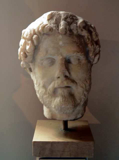 Head of the Emperor Antoninus Pius (138 - 161 AD), Sculpture of Roman Period, Istanbul Archaeology Museum