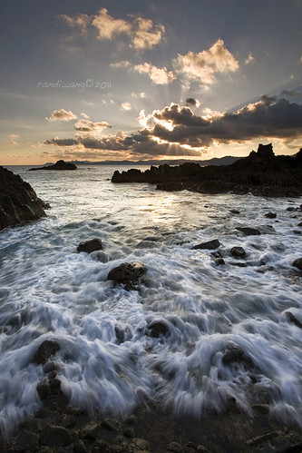 sunset seascape west beach clouds canon indonesia landscape eos rocks extreme wave 5d rays ang lombok nusa randi barat tenggara naturepoetry semeti