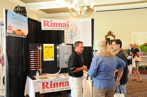 TK at the Rinnai booth