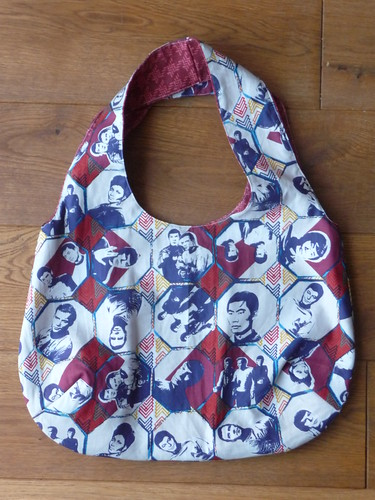 Homemade Star Trek Reversible Bag