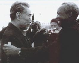 Chou En-lai former Chinese Premier along with former President of Tanzania, Mwalimu Julius Nyerere. Nyerere understood the land question in Zimbabwe. by Pan-African News Wire File Photos