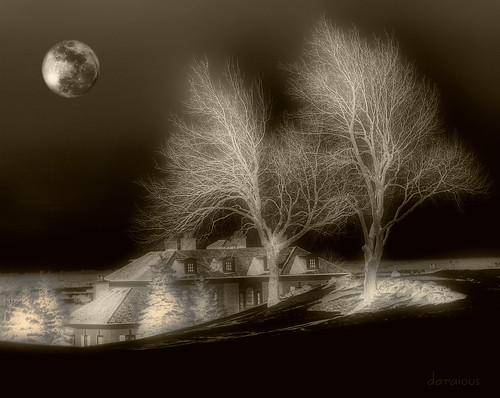 winter moon composite landscape nikon imagemanipulation caledon d80