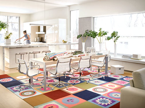 Alexander Girard kitchen FLOR carpet tiles