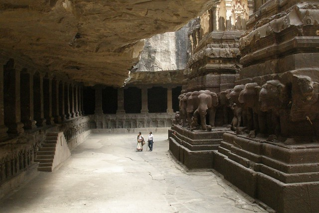 Las Cuevas de Ellora, Aurangābād, India.