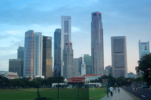Bismarck (ND) United States  City new picture : Skyline of the Downtown Core, Singapore, 2002. by Precious Dream