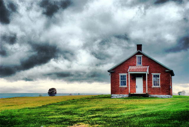 Amish One Room Schoolhouse Lancaster County Pennsylvania DSC_8393