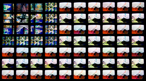 Video Flag by Nam June Paik