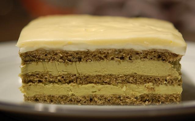 Green Tea & White Chocolate Opera Cake | Flickr - Photo Sharing!