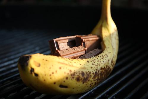 Chocolate Banana Boat: Before